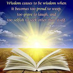 kahlil gibran quote on wisdom