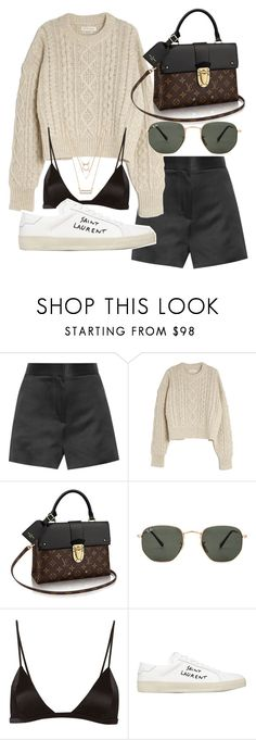 """Untitled #21094"" by florencia95 ❤ liked on Polyvore featuring The Row, Étoile Isabel Marant, Ray-Ban, Fleur du Mal, Yves Saint Laurent and Forever 21"