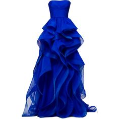 reem-Editado por dehti - ❤ liked on Polyvore featuring dresses, gowns, vestidos, long dresses, long blue dress, blue gown, blue evening dresses and blue dress