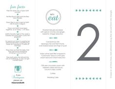 Add-On: 10 Additional Table Numbers/Wedding Menu, Fun Facts, Instagram, Customized Trifold Digital Printable on Etsy, $8.93