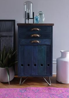 IKEA Hack cabinet. An IKEA storage organiser gets a vintage industrial makeover using annie sloan paint