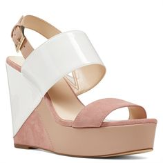 12a96605e Nine West Dreamz Wedge Sandals ($99) ❤ liked on Polyvore featuring shoes,  sandals