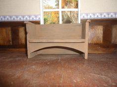 Handmade Dolls House Miniature Replica Bench, Sofa by Charles Rennie Mackintosh 1 12 Scale