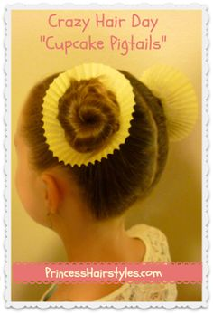 Crazy Hair Day Hairstyle! - Princess Hairstyles | Braids and Hair Style tutorials