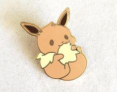 Seconds Sale! Cute Chubby Eevee Eeveelution Kawaii Fox Pokemon Hard Enamel Pin Lapel Pin Gold Plated Pin