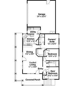 Main Floor Plan. 1265 sq ft. Like the wrap around porch.
