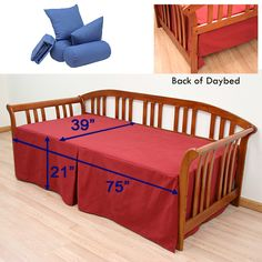 DIY? daybed cover...could probably make from a larger flat sheet