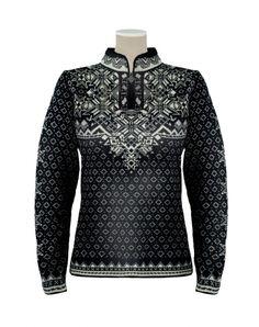 Dale of Norway Bogstad Sweater Women's (Black / Natural) Cool Sweaters, Winter Sweaters, Black Sweaters, Sweaters For Women, Sweater Outfits, Sweater Jacket, Norwegian Knitting, Nordic Sweater, Sweater Knitting Patterns