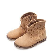 Bota calados piel - Zapatos - Bebé niña - Niños - ZARA España
