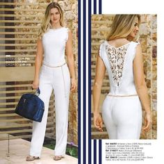 Dress Outfits, Casual Dresses, Casual Outfits, Fashion Poses, Fashion Dresses, Bridal Pants, Pretty White Dresses, Modelos Fashion, Chic Dress