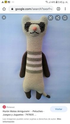 Crochet Game, Crochet Mouse, Knit Or Crochet, Cute Crochet, Easy Crochet Animals, Knitted Animals, Amigurumi Patterns, Crochet Patterns, Kawaii Crochet