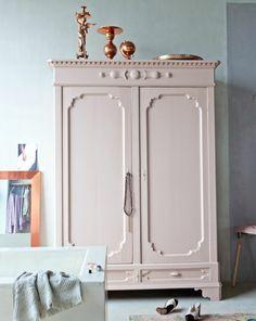 armoire chambre enfant vieux rose penderie TRENDY LITTLE 1 ...