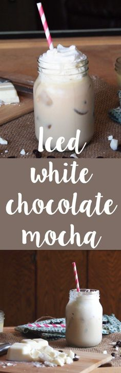 Make this easy and oh so delicious Starbuc… Homemade iced white chocolate mocha! Make this easy and oh so delicious Starbucks drink at home! Iced White Chocolate Mocha, White Chocolate Sauce, Hot Chocolate, White Chocolate Recipes, Iced Mocha, Mocha Coffee, Starbucks Iced White Mocha Recipe, Homemade Chocolate, Caramel Macchiato Recipe Iced