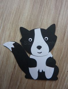 Paper Punch Art, Punch Art Cards, Foxy Friends Punch, Border Collie Art, Craft Punches, Owl Punch, Dog Crafts, Stamping Up Cards, Animal Cards