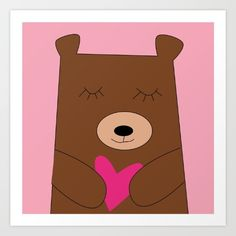 Bear in Love for valentine with love. Collect your choice of gallery quality Giclée, or fine art prints.