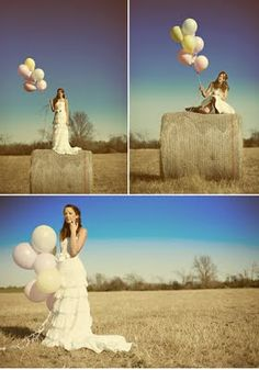 Bride with balloons photo inspiration