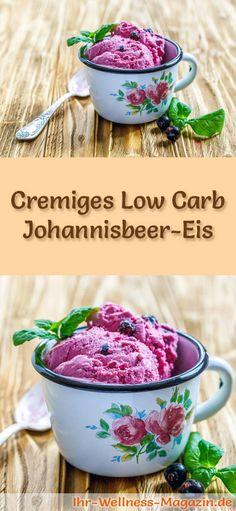 Rezept für Low Carb Johannisbeer-Eis - ein einfaches Eisrezept für kalorienreduzierte, kohlenhydratarme und gesunde Eiscreme ohne Zusatz von Zucker ...