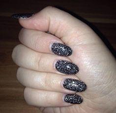Black Glitter Nails ❤️