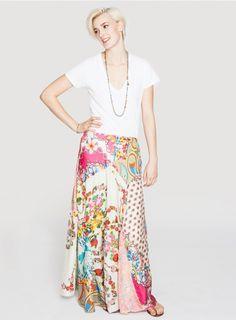 Maxi Skirt- Plus Size Multi