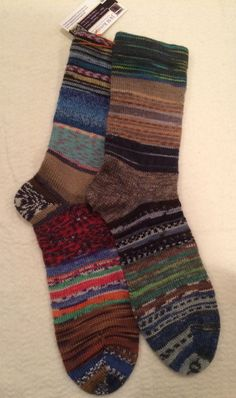 A personal favorite from my Etsy shop https://www.etsy.com/listing/505628204/mens-10-11-crazy-scrappy-knitted-socks
