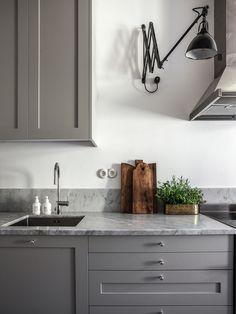 Zachte pasteltinten in een elegant appartement in Stockholm - Roomed