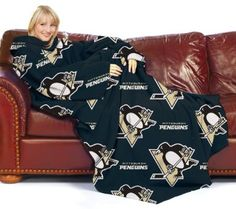 Amazon.com: NHL Pittsburgh Penguins Comfy Throw Blanket with Sleeves: Sports & Outdoors