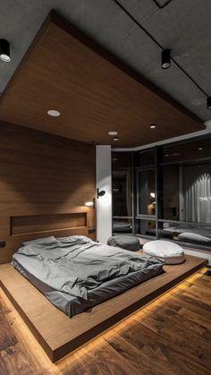 Industrial Bedroom Design, Luxury Bedroom Design, Bedroom Furniture Design, Home Room Design, Master Bedroom Design, Dream Home Design, Modern House Design, Home Interior Design, Bedroom Designs