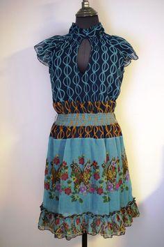 Pretty Colorful DESIGUAL Dress Vest Gimynna Print Mod. 01V2861 #Desigual