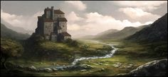 2 Scotland inspired landscapes -Frederic Edwin