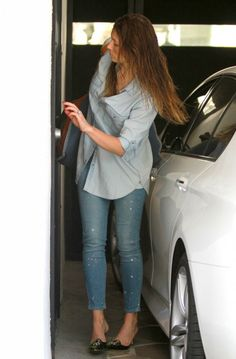 Jessica Biel wearing the Paige Verdugo Jeans. Shop these designer jeans at Cocaranti
