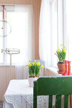 fresh colors for a kitchen....Spring on the porch by jutta / kootut murut, via Flickr