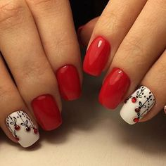 If you are getting ready for the holidays by painting a winter wonderland on your nails, these Cutest Christmas Nail Art DIY Ideas will surely give you a cheerful Christmas season this year. Holiday Nail Art, Christmas Nail Art Designs, Winter Nail Designs, Cute Nail Designs, Christmas Design, Cute Christmas Nails, Xmas Nails, Fun Nails, Valentine Nails