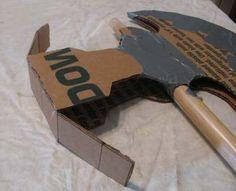 how to make a cardboard axe head - Hammer Head of the Polearm