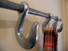 industrial hook coat rack