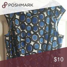 Dress Blue polka dots Dress Barn Dresses
