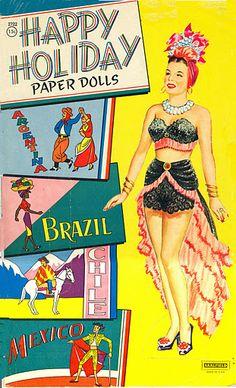 Happy Holiday Carmen Miranda paper doll / eBay