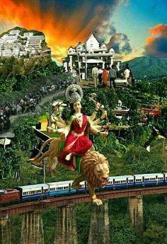 Durga Kali, Durga Puja, Durga Goddess, Shiva, Navratri Wallpaper, Durga Painting, Navratri Images, Mata Rani, Vaishno Devi