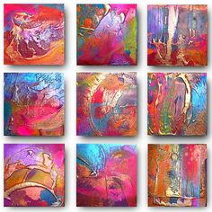 9 x Original Set of Art by Caroline Ashwood - Textured and contemporary abstract paintings on. 9 x Original Set of Art by Caroline Ashwood - Textured and contemporary abstract paintings on canvas, Art Painting, Abstract Artists, Hanging Art, Abstract Painting, Painting, Abstract Art, Art, Abstract, Canvas Painting