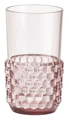 Bicchiere Jellies Family / Large - H 15 cm Rosa design Patricia Urquiola for Kartell