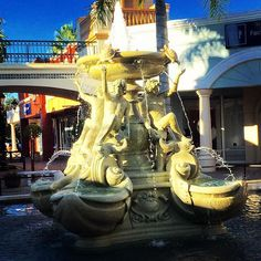 #waterfountain shopping for replacement crocs. Very cool outlet mall!