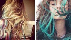 dyi dip-dyed hair