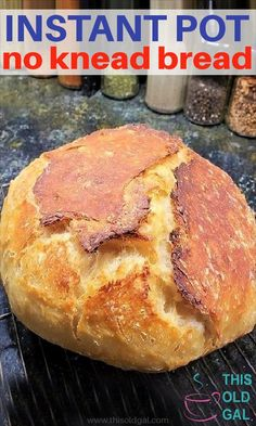 Instant Pot No Knead Yogurt Whey Dutch Oven Crusty Bread Instant Pot No Knead Bread made with the whey from yogurt proofs in the Instant Pot, Mealthy MultiP Egg And Bread Recipes, Easy Keto Bread Recipe, Best Keto Bread, Easy Cake Recipes, Almond Recipes, Whey Recipes, Healthy Recipes, Soup Recipes, Recipies
