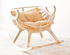 Wooden Rocking chair by TreeSky on Etsy