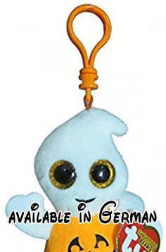 """Ty Beanie Boo Boos 3"""" Key Clip - Pumpkie the Ghost (Halloween Exclusive) by Ty Beanie Boos. Ty Beanie Boo Boos 3"""" Key Clip - Pumpkie the Ghost (Halloween Exclusive) #Toy #TOYS_AND_GAMES"""