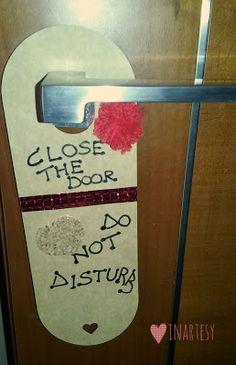 ❤InArteSy: ♡ Come creare dei cartellini da appendere alla porta