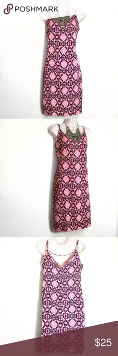 ONE CLOTHING (Anthropologie) Pink and Blue Dress M This dress is new without tags. Perfect for the spring and summer. (Armpit to armpit: 18 in./ Length: 36 In.) The straps are adjustable so length may slightly vary. ❗️BUNDLE FOR DISCOUNTS❗️ one clothing Dresses Mini