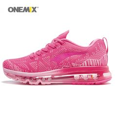 Onemix Running Shoes Women Sport Sneakers For Woman Athletic Trainers  Exercise Runner Lady Pink Zapatillas Deportivas Pink Color b55d23acd8af2