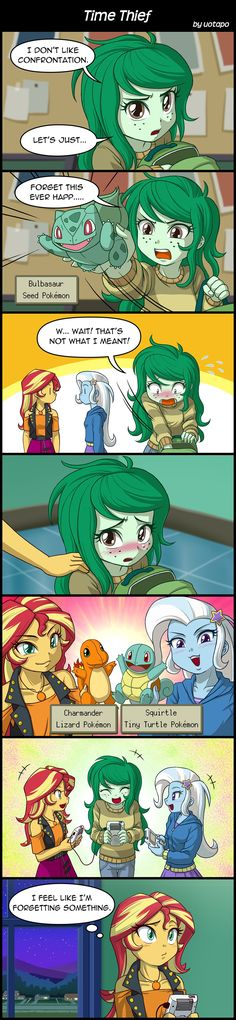 Time Thief by uotapo on DeviantArt My Little Pony Characters, My Little Pony Comic, My Little Pony Pictures, Mlp Memes, Funny Memes, Pokemon Memes, Mlp Comics, Funny Comics, Mlp Fan Art