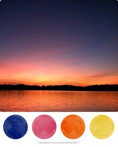 Sunset Shore View : Color Inspiration | Mospens Studio