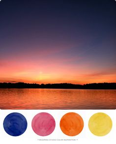 Sunset Shore View : Color Inspiration | Mospens Studio